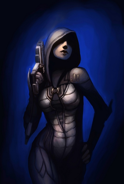 Kasumi by TheBoyofCheese Mass Effect Fan Art
