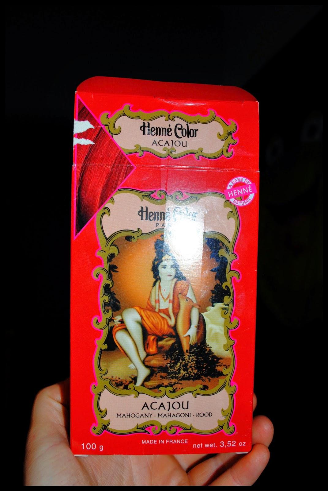 cest le henn color acajou il est base de henn naturel sans oxydant sans ammoniaque et sans ppd bref pour moi a valait la peine de tenter - Henne Color Acajou