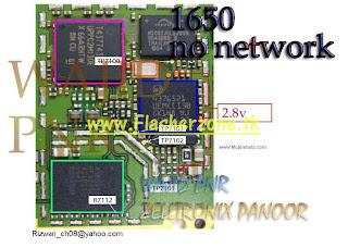 nokia 1650 no network  hardware jumper solution diagram
