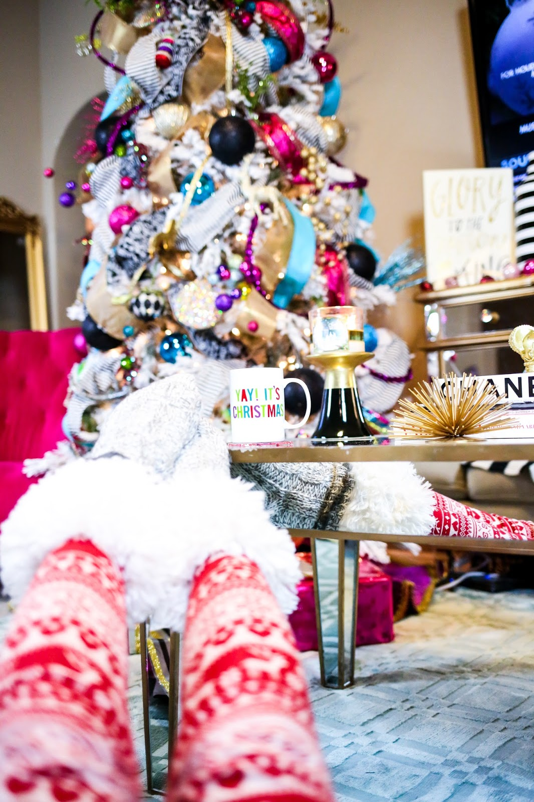 At Home Wrapping Gifts.. PJ Day | The Sweetest Thing