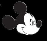 cara de cara de mickey mouse