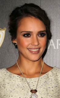 Jessica Alba bobby pinned romantic Updo Hairstyle