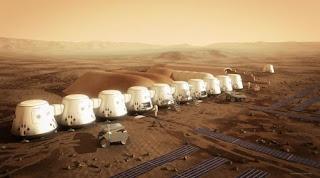 Di Planet Mars Akan di Bangun Pemukiman Seperti Ini