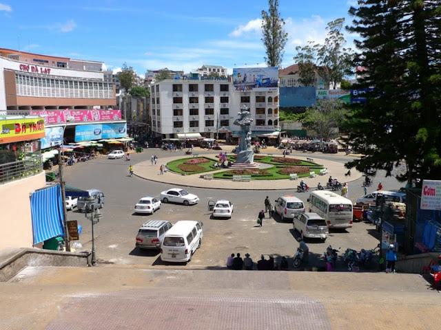 Vista del mercado de Dalat