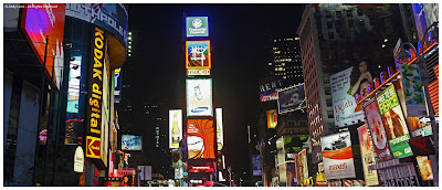 times square new york at night