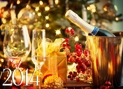 Brindis de fin de año con mensaje de Año Nuevo 2014
