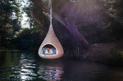 Nestrest the Hanging Chair Design above Water