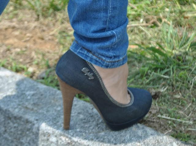 scarpe in denim replay come abbinare jeans e tacchi outfit jeans e tacchi maggio 2015 outfit maggio 2015
