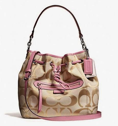 Coach 25676 Daisy Outline Signature Metallic Drawstring Shoulder Bag 52