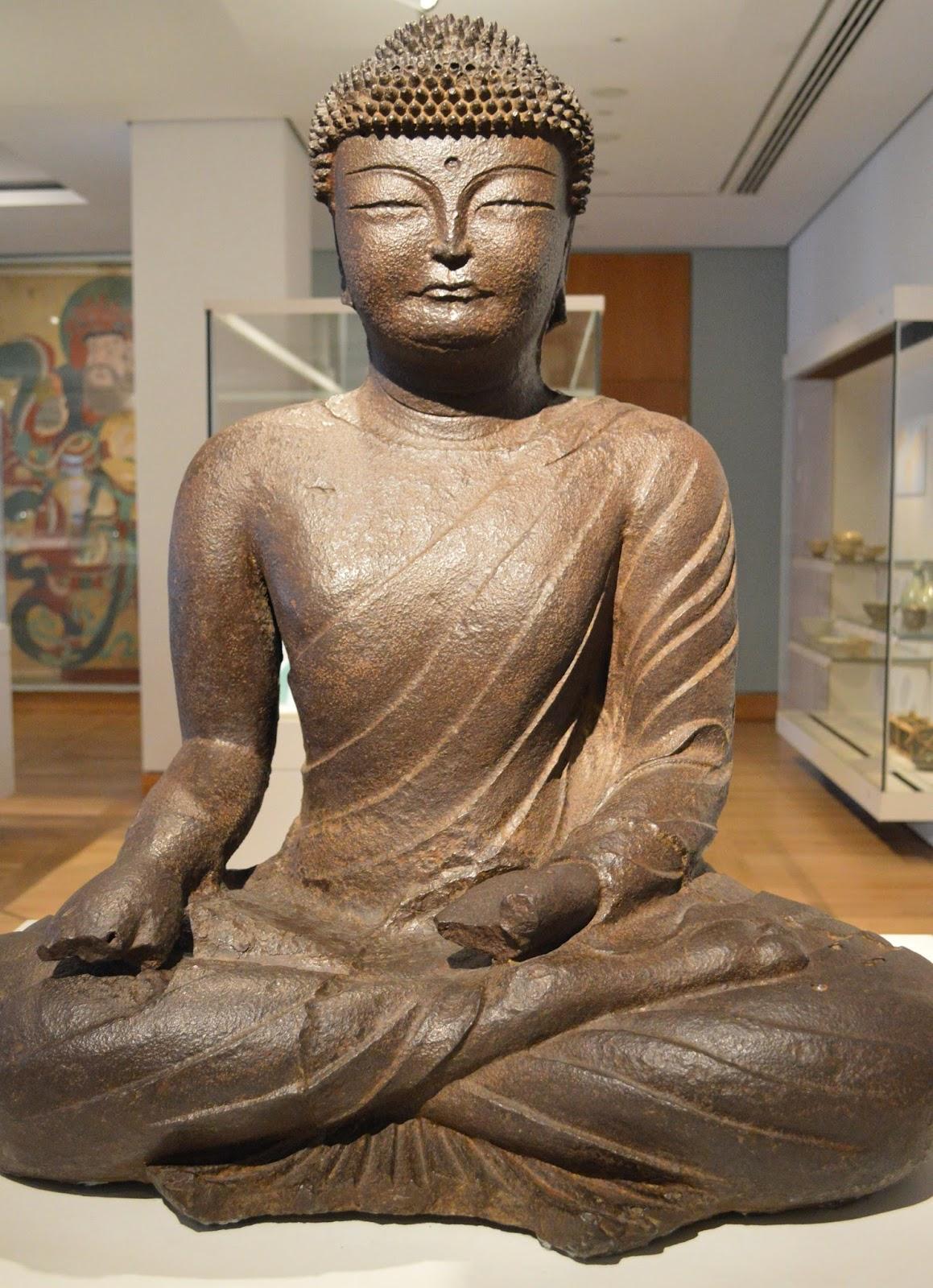 Korean Buddha statue at the British Museum