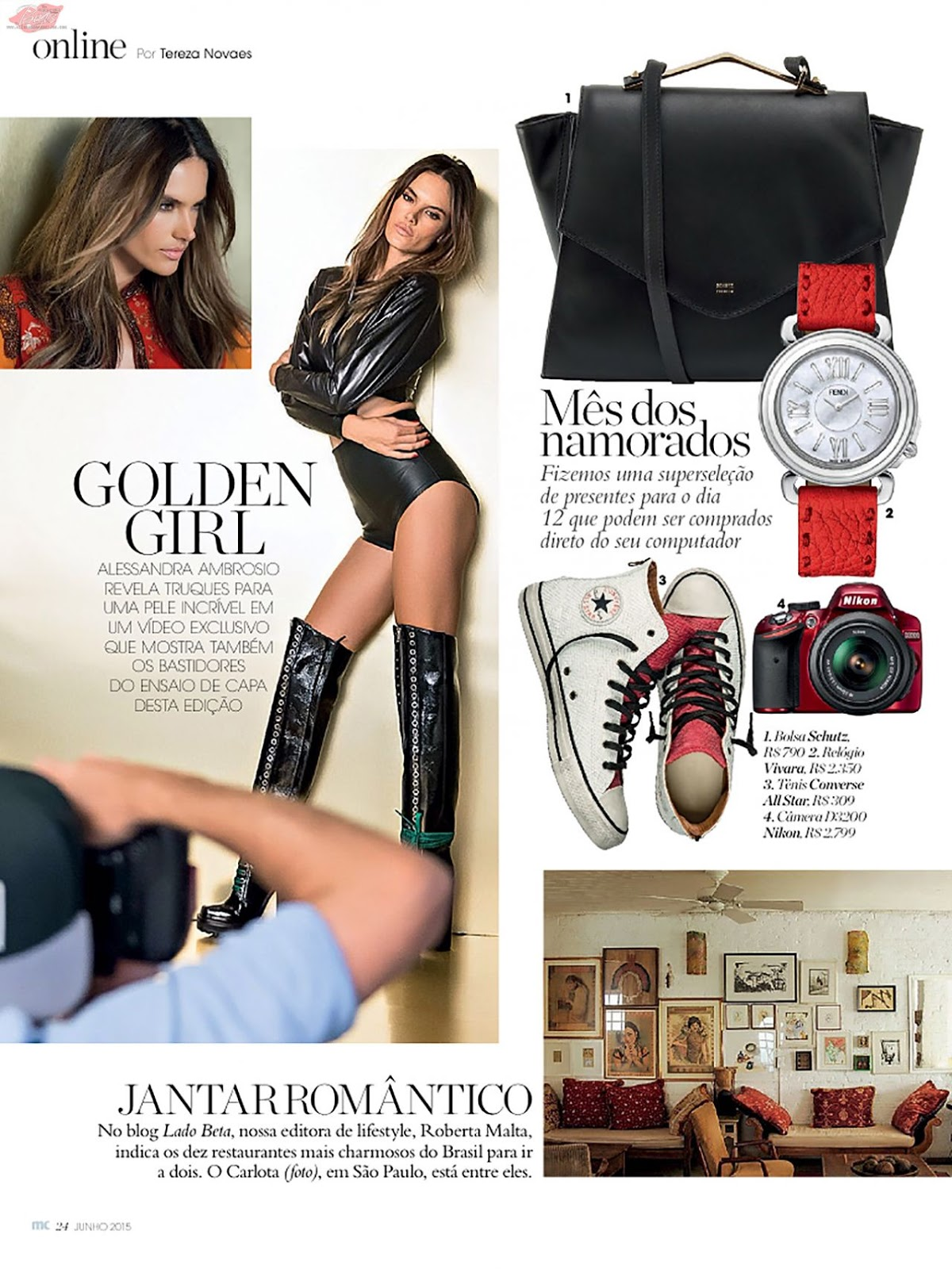 Alessandra Ambrosio is glamorous for Marie Claire Brazil June 2015