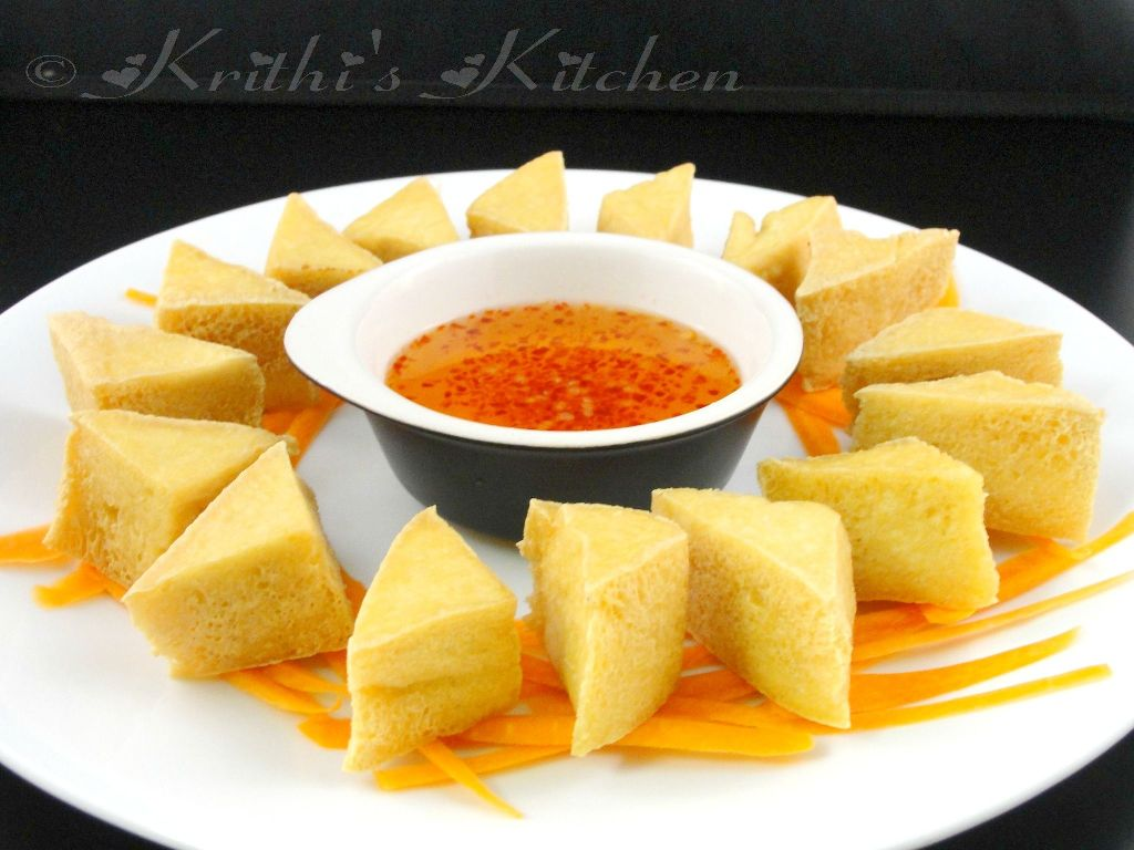 Crispy Tofu Triangles With Asian Dipping Sauce Recipe ...