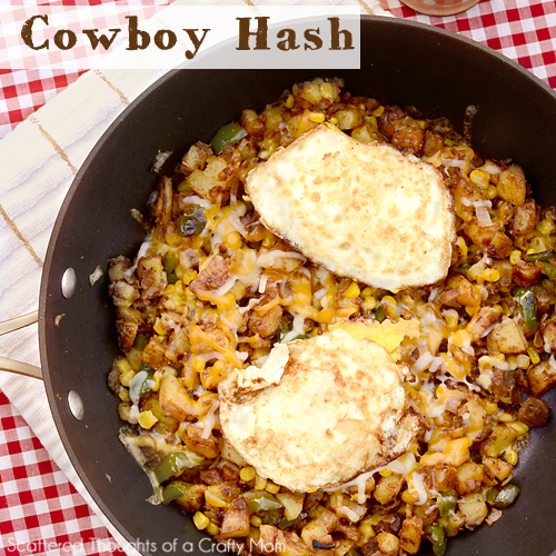 breakfast for dinner, cowboy hash