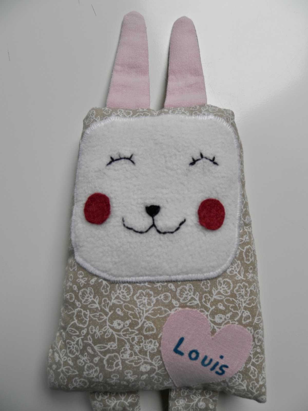 Coton et Création : doudou lapin