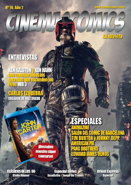 PORTADA CINEMASCOMICS: LA REVISTA Nº 16