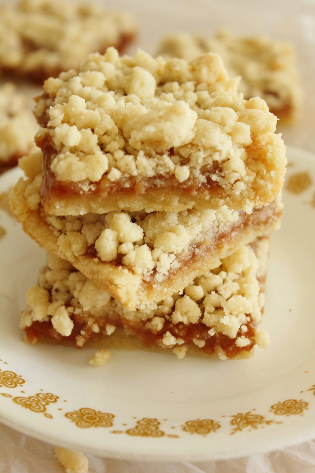Salted Caramel Crumble Bars