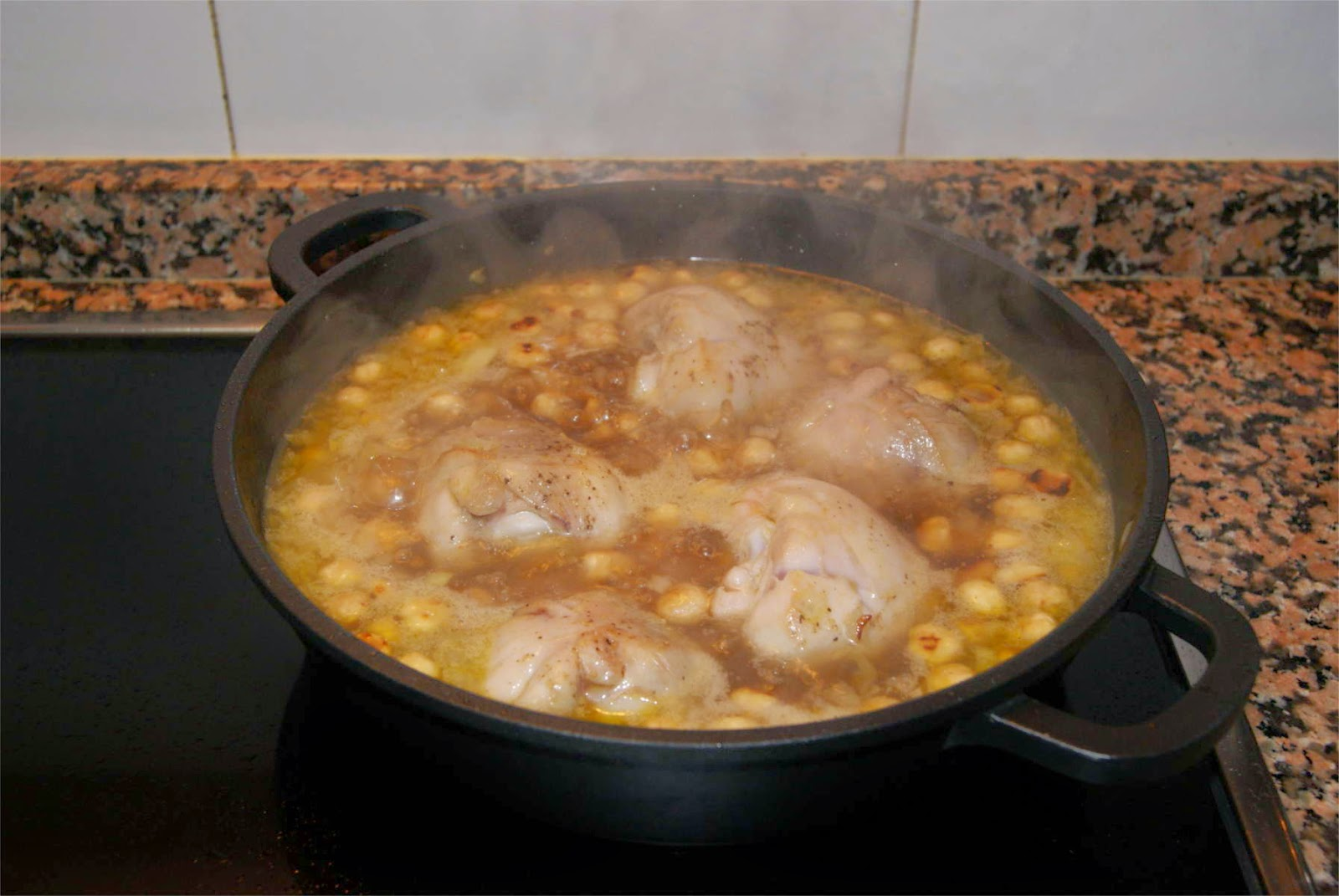 Pollo con avellanas paso 4