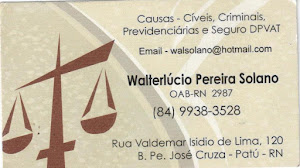 WALTERLCIO PEREIRA SOLANO - OAB-RN 2987
