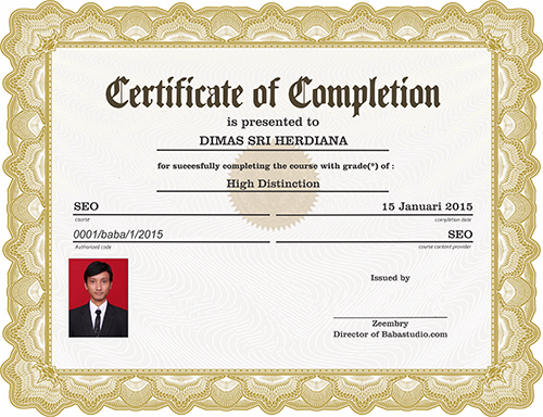 sertifikat kursus online
