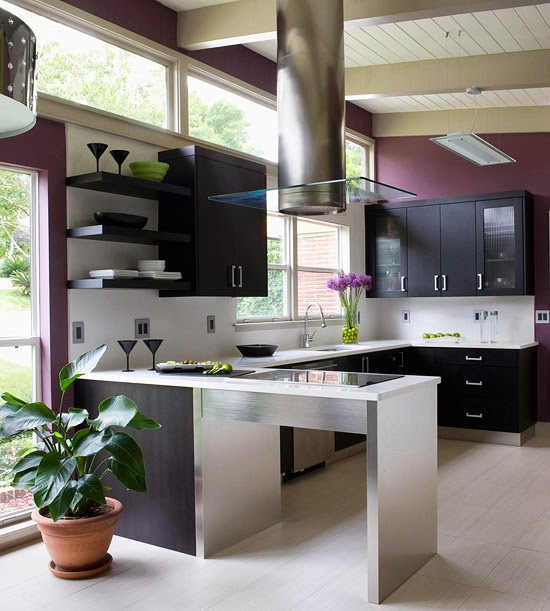 """12 Kitchen Cabinet Color Combos That Really Cook: Lisa Mende Design: My Top 5 """"Radiant Orchid"""" Paint Colors"""