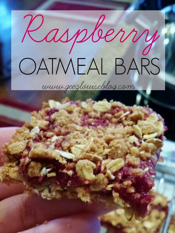 Geez, Louise: Raspberry Oatmeal Bars