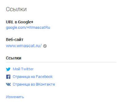 URL в Google+