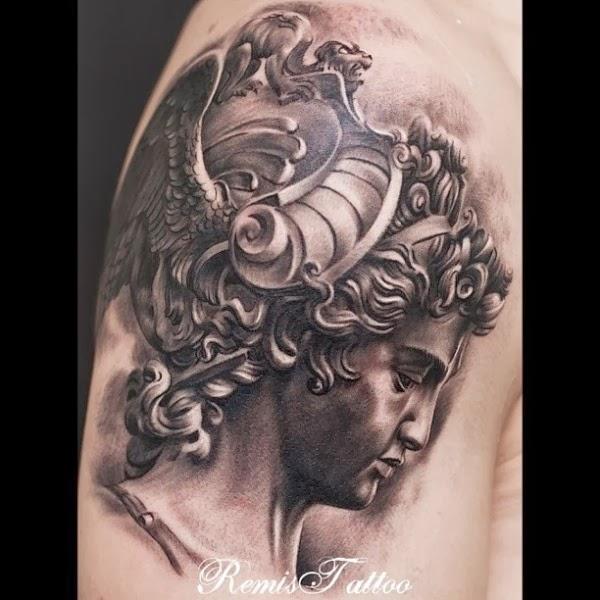 Athena Symbol Tattoo Design Sad Athena Tattoo Art