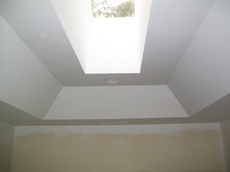 how to change popcorn ceiling to flat