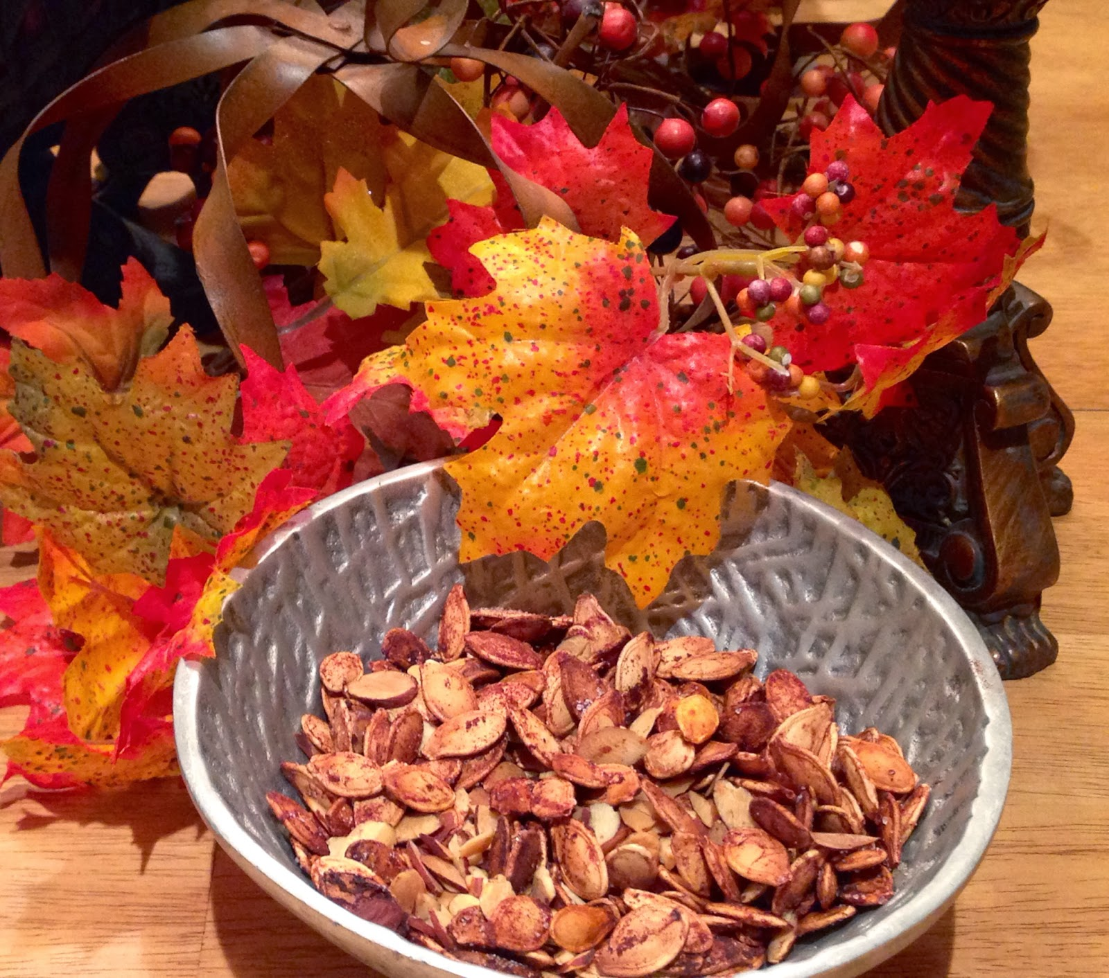 Sugared Toasted Pumpkin Seeds & Almonds Recipe... YUM!