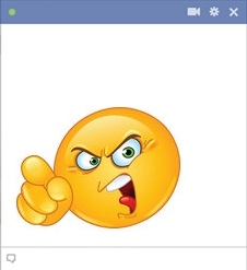 Mad emoticon smiley for facebook