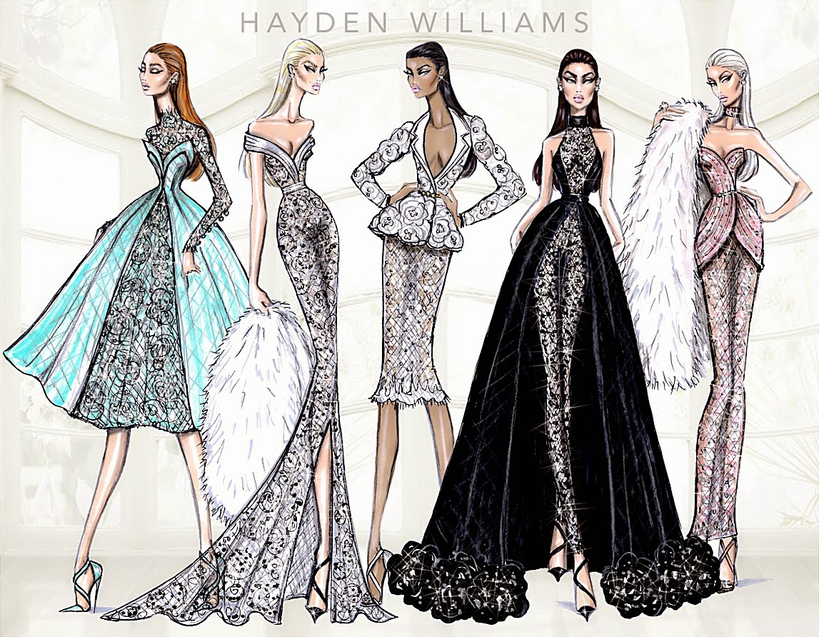 Hayden williams fashion illustrations january 2015 for Haute design