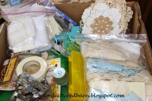 Eclectic Red Barn: Dollar box contents -lace