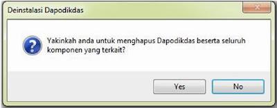 CARA UNINSTALL / MENGHAPUS APLIKASI DAPODIKDAS 2013/2014
