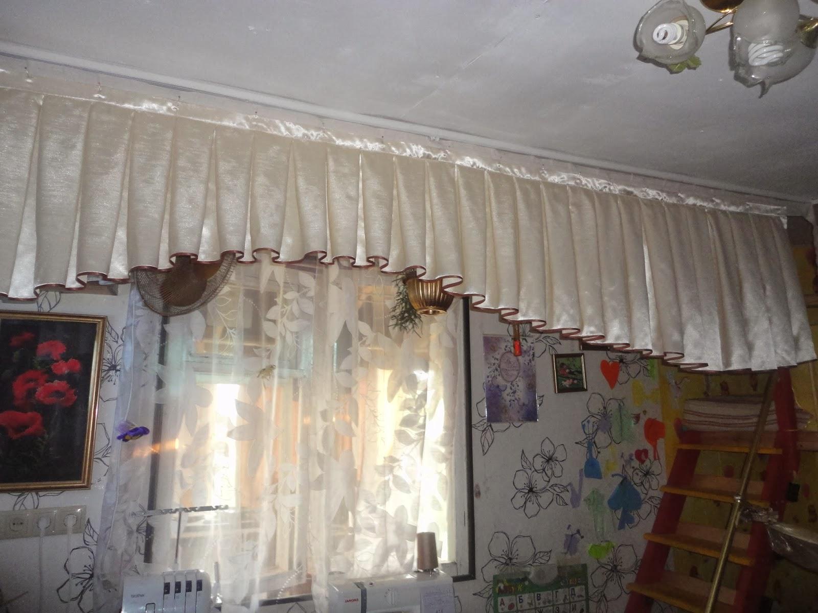 фото ламбрекены с бантовыми складками