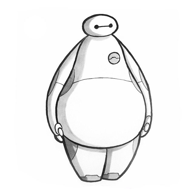 Baymax Big Hero 6 IAMO Sketch
