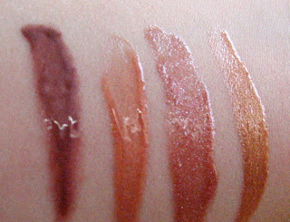 Cargo Argentina Lip Gloss Quad Swatches