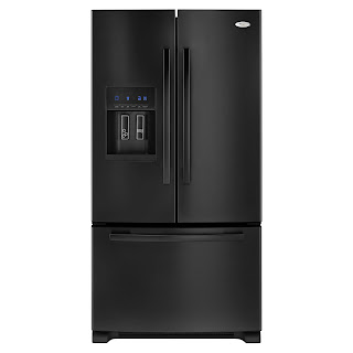 contemporary looks black french door refrigerator