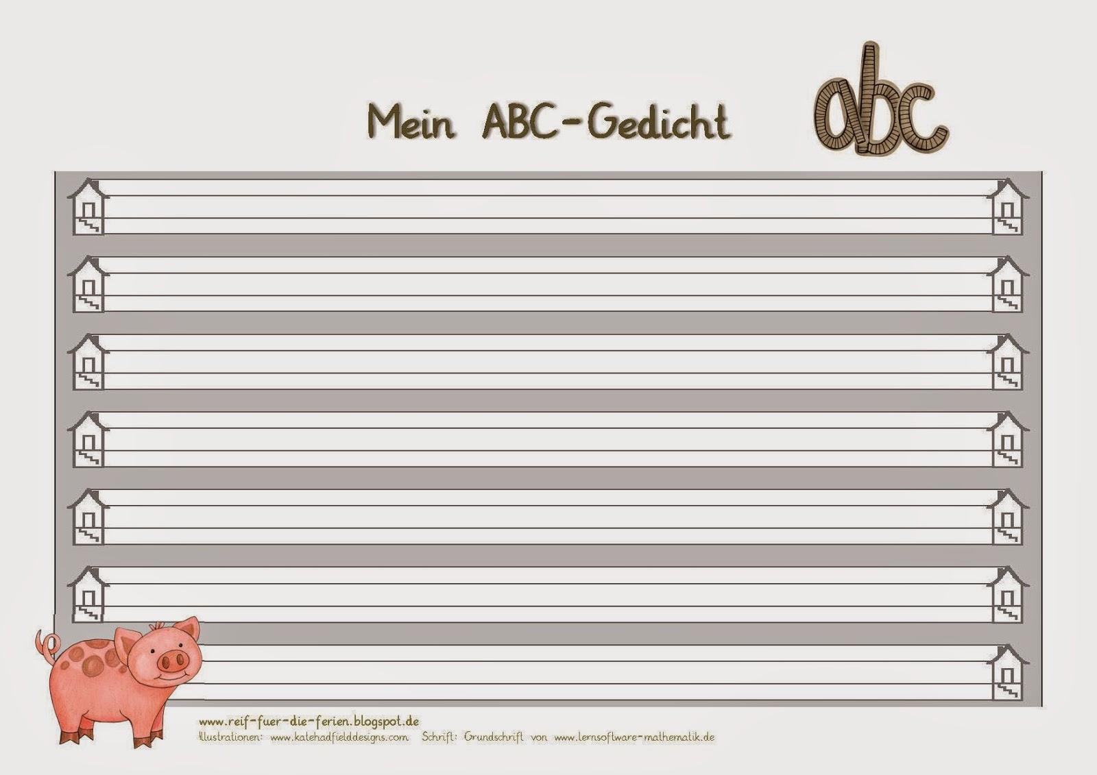ABC-Gedichtblatt quer