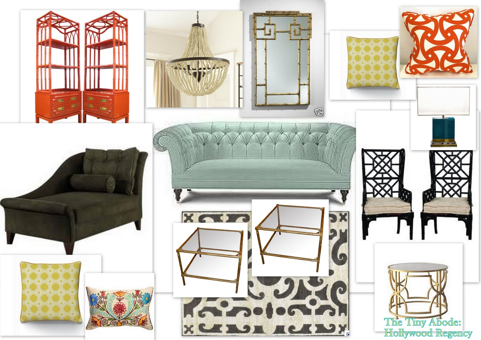 the tiny abode hollywood regency my very first mood board