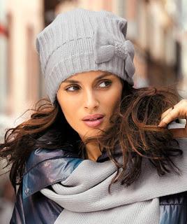 Модные женские вязаные шапки 2014 — фото