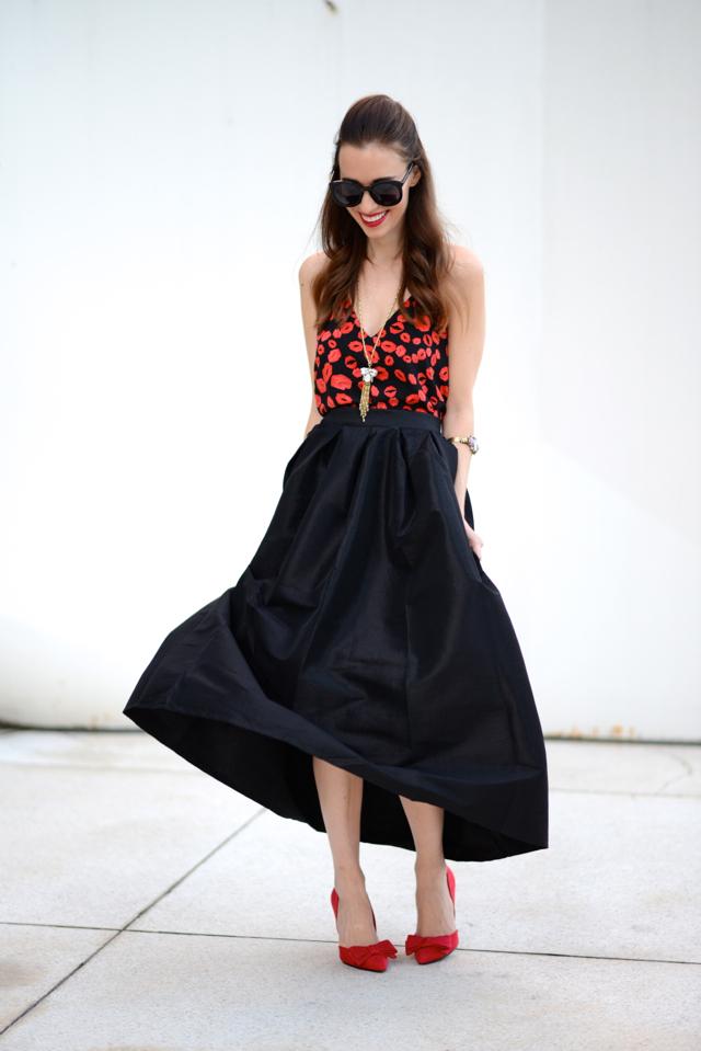 twirling in black full skirt via M Loves M @marmar
