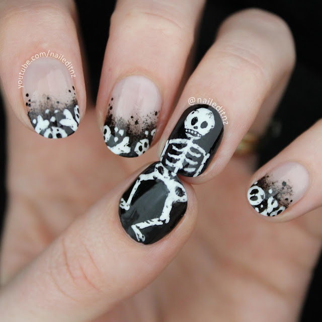 Nail Art Mash Up # 5 - Halloween Nail Art!