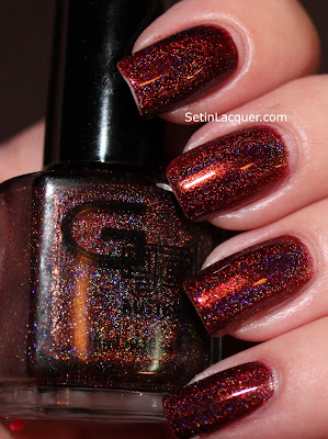 Glitter Gal Belgian Chocolate holographic nail polish