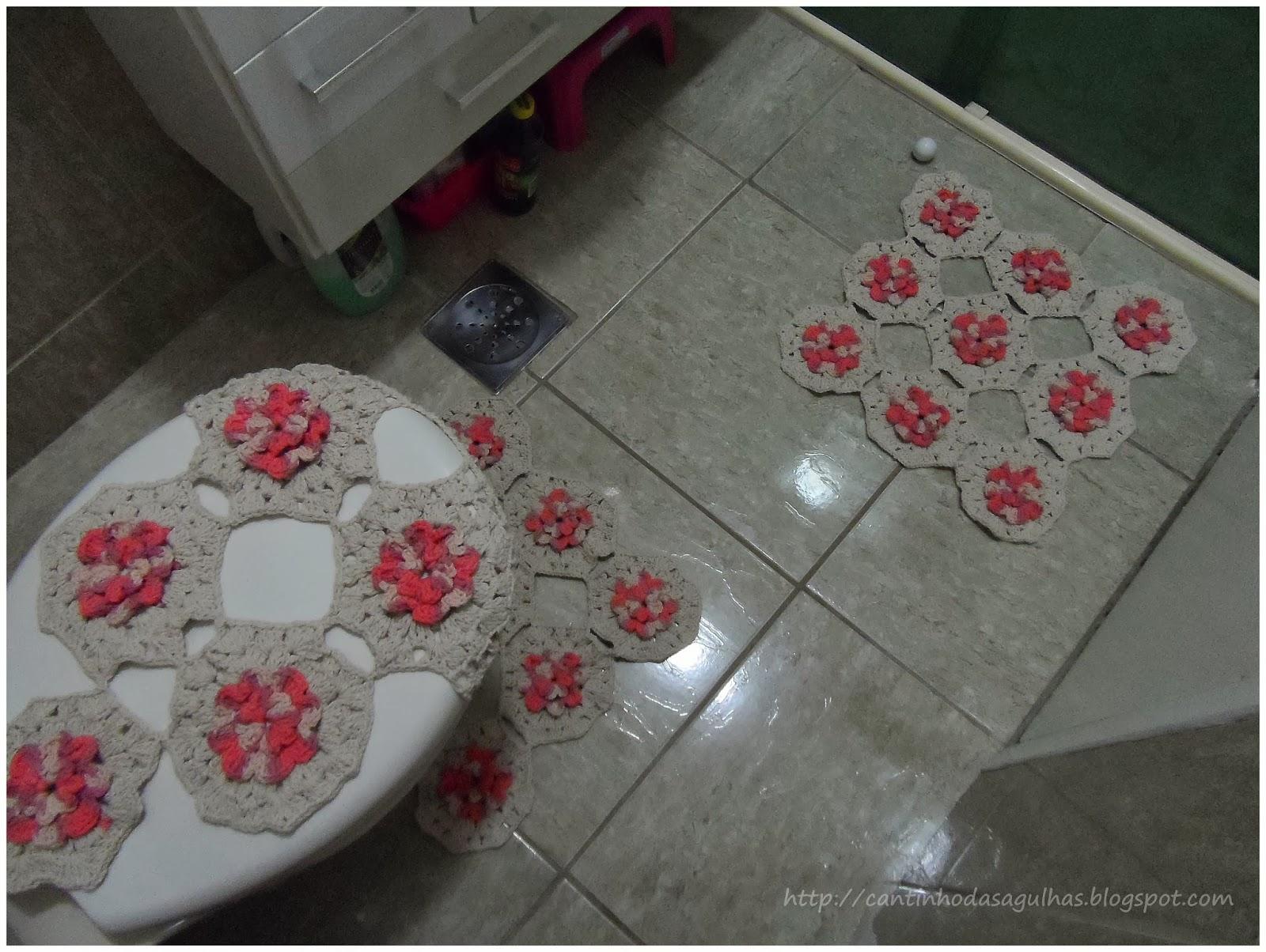 Jogo De Banheiro Completo : Cantinho das agulhas jogo de banheiro completo