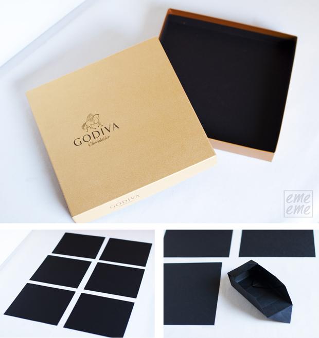DIY caja de abalorios origami box