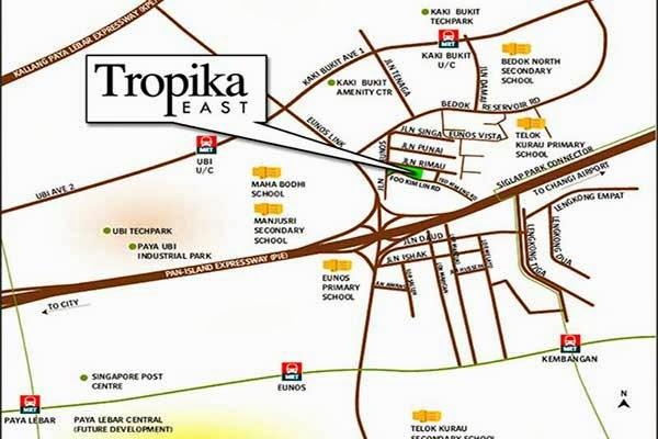 Tropika East Location Map