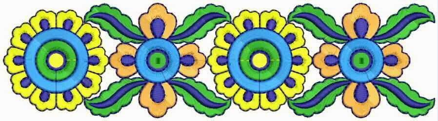 kleurige kombinasie Kant grens ontwerp