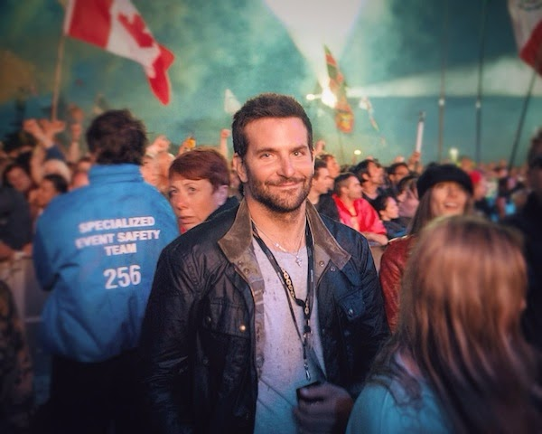 Bradley Cooper at Glastonbury Festival 2014 - Belstaff Trialmaster jacket