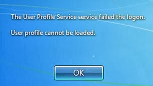 "Pesan Error ""User Profile Cannot Be Loaded"" pada Windows 7"