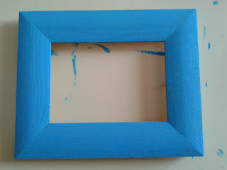 DIY summer photo frame